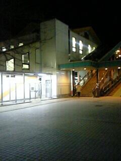 夜の秋川駅